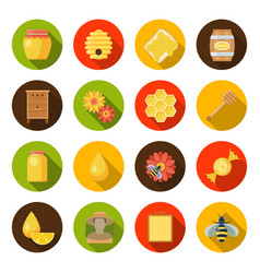 honey apiary set vector image