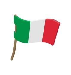 Italy flag cartoon style vector image
