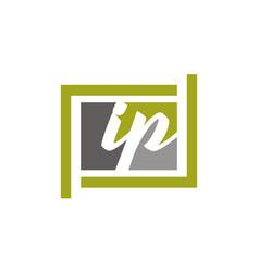 Letter ip modern vector