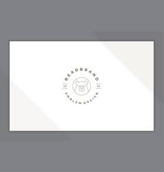 linear emblem stylized beard line style vector image