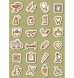 medical tag vector image