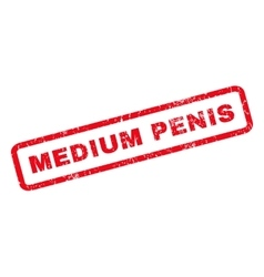 Medium Penis Rubber Stamp vector image