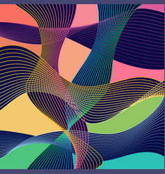 modern stle abstraction with composition made of vector image