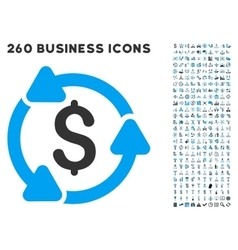 Money Circulation Icon with Flat Set vector image