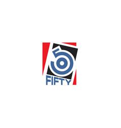 Number 50 logo design vector