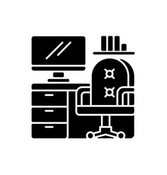 office furniture black glyph icon vector image