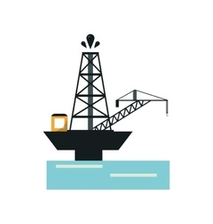 Oil tower of industry and factory concept vector image