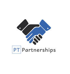 partnership logo vector image