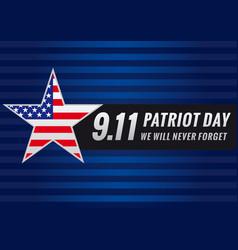 Patriot day usa star banner vector