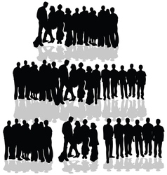 people group on white vector image