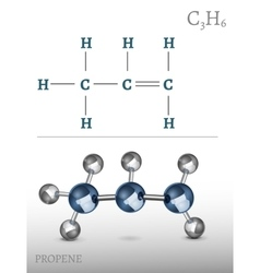 Propene Molecule vector