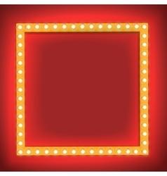 Retro shining frame Light bulb vector