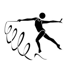Rhythmic gymnastics sign icon vector