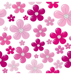 seamless flowers vector image