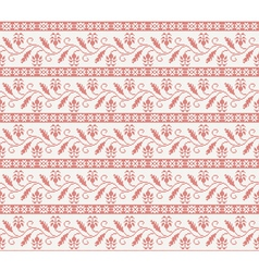 seamless knitted pattern with red flower vector image