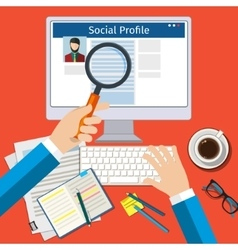 Search Social Profile vector