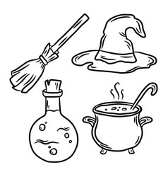 Set elements about halloween vector