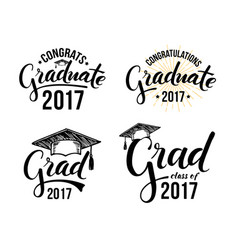 set of graduation labels vector image