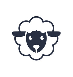 sheep logo logo template sheep head line vector image
