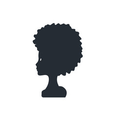 Silhouette young woman head lovely girl vector