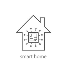 Smart home icon from internet things vector