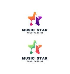 Star music logo vector
