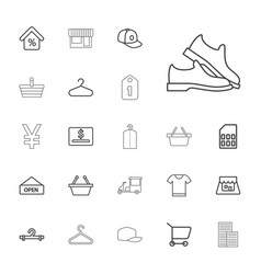 Store icons vector