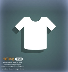 T-shirt Clothes icon symbol on the blue-green vector image