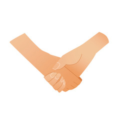 two human hands shaking symbol - greeting or vector image