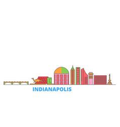 united states indianapolis line cityscape flat vector image