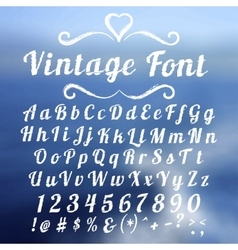 Vintage font lettering on abstract blurry vector
