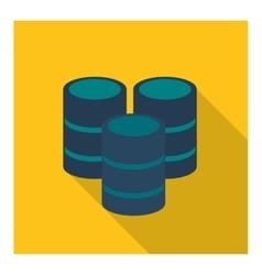 Web hosting icon Data center design vector