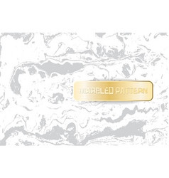 white and gray marble pattern light marbling vector image
