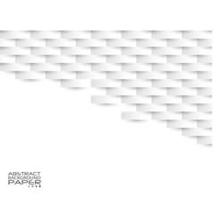 White geometric texture original cover template vector