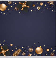 winter season holidays background with golden vector image