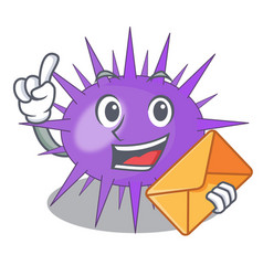 With envelope sea urchin commonly called in vector