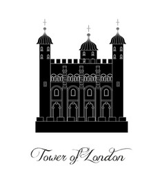 With the beautiful tower of london vector