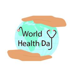 world health day idea campaign concept vector image