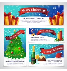 Christmas Party Cards Banners vector image vector image
