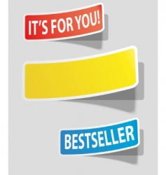 colorede stickers vector image
