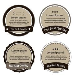 Retro Design Premium Vintage Labels vector image vector image