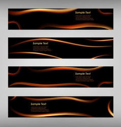 Set of abstract black web banner vector image vector image