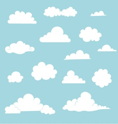 Cloud Set vector image vector image