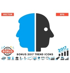 Dual Face Flat Icon With 2017 Bonus Trend vector image vector image