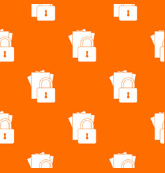 folders with padlock pattern seamless vector image vector image