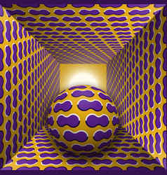 optical motion a sphere are moving vector image vector image