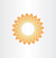 orange star abstract background vector image