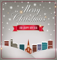 Quaint Christmas village vector image