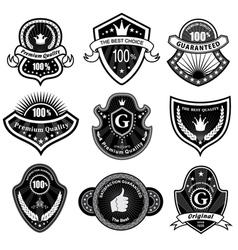 vintage styled labels vector image