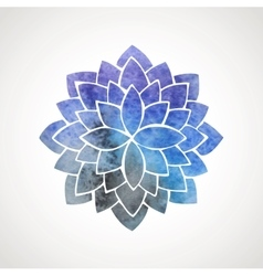 Watercolor lotus flower with space background vector image